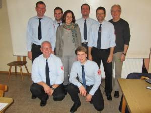 oben von links: Peter Reum (Beisitzer), Tobias Klug (Beisitzer), Andrea Rothenbucher (1. Vorstand), Volker Amon (2. Vorstand), Guido Hetzer (Kassier), Thomas Rochow (Beisitzer) vorne von links: Armin Herold (Schriftführer), Jonas Körner (Beisitzer)